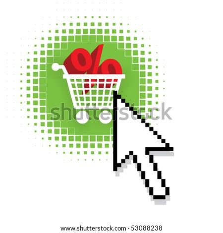 Vector E commerce sale or discount concept - stock vector