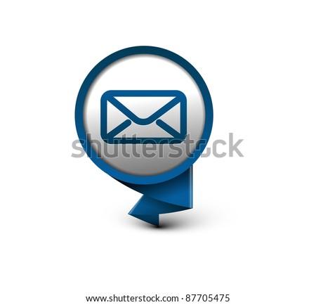 vector e mail icon web design element. - stock vector