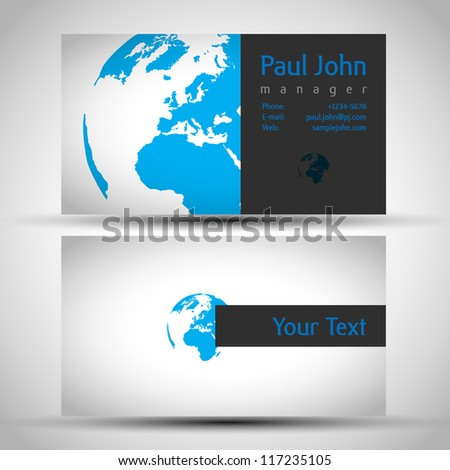 Vector earth businesscard front back stock photo photo vector vector earth business card front and back colourmoves Image collections