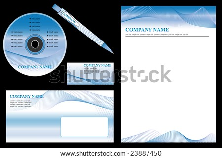 Vector easy editable - corporate identity template, business stationery set. - stock vector