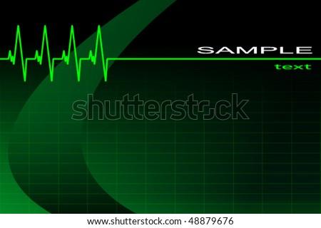 vector ECG background/business card - stock vector