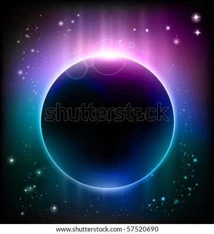 vector eclipse - stock vector