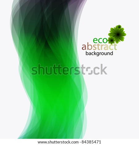 vector ECO abstract background for your design - stock vector