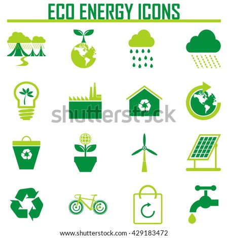 Vector Eco Icons - stock vector