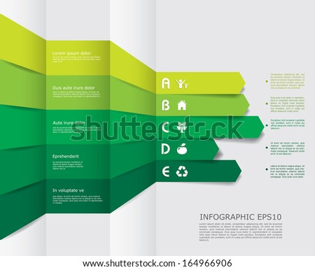 Vector eco infographic composition. - stock vector