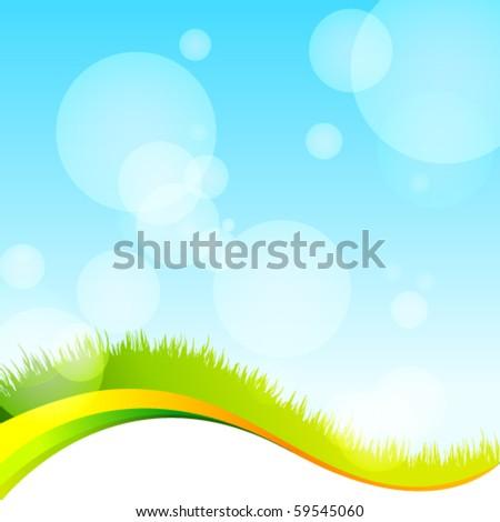 Vector eco template - stock vector