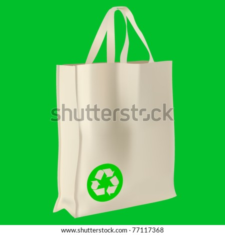 vector ecological bag - stock vector