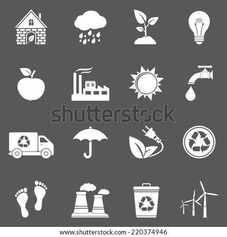 Vector ecology and recycle icons - stock vector