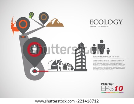 Vector ecology concept infographic modern design. icon and sign. - stock vector