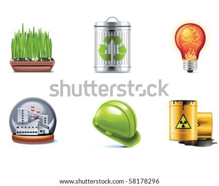 Vector ecology icon set. Part 2 - stock vector