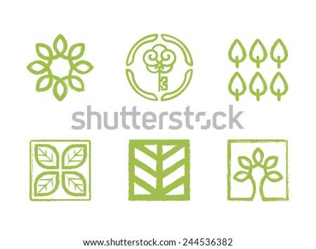 Vector Ecology logo templates - stock vector