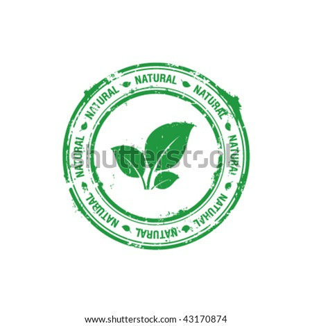 vector ecology natural stamp - stock vector