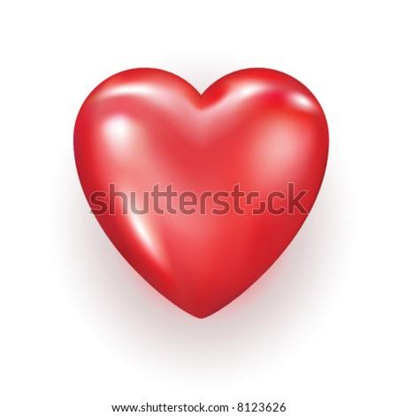 Vector editable heart - stock vector