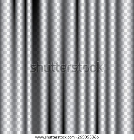 vector editable transparent curtain - stock vector