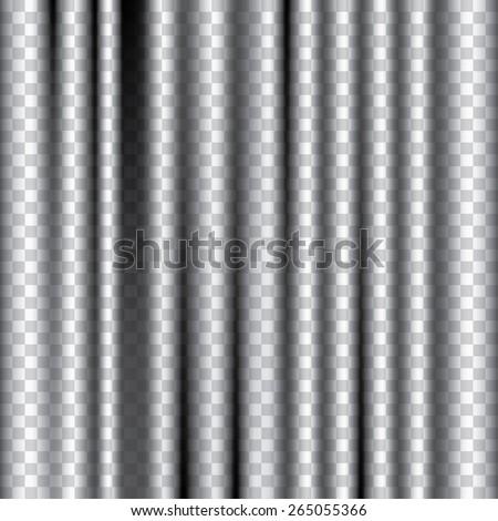 vector editable transparent curtain - stock vector