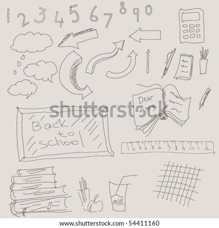 vector education symbols - stock vector