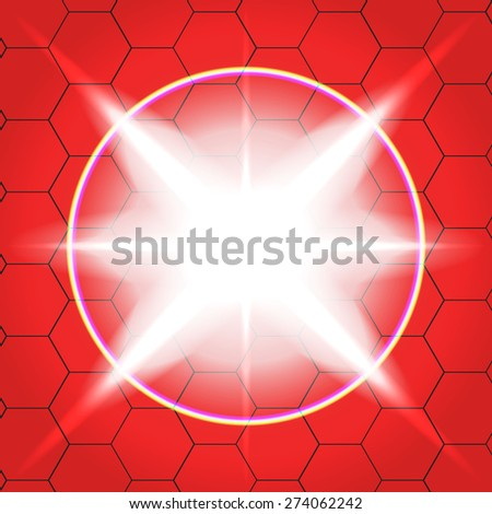 Vector effects background. red 1 - stock vector