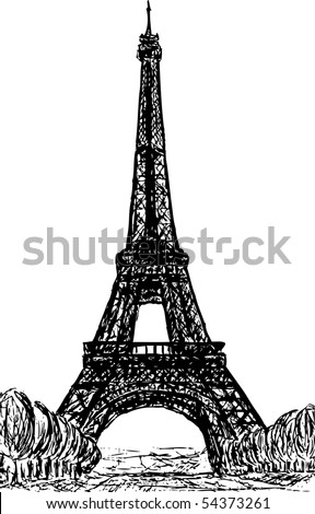 vector - Eiffel Tower in Paris , Europe