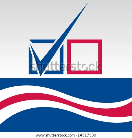 Vector Election Day vote graphic. - stock vector