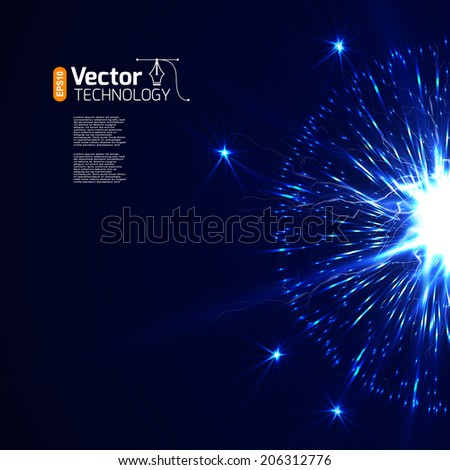Vector electric background - stock vector