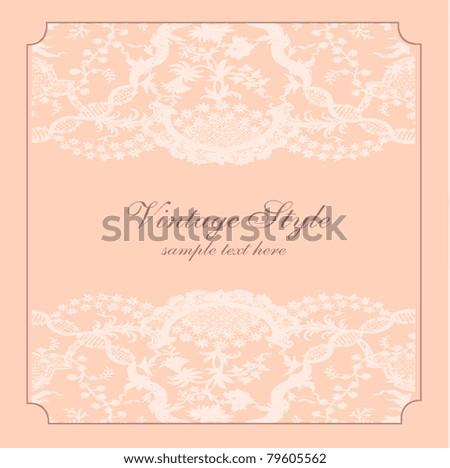 vector elegant and romantic vintage card design, illustration background  ( Invitation frame) - stock vector