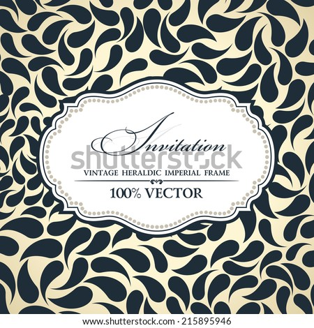 Vector elegant background place for text. Floral frame label elements ornate background - stock vector