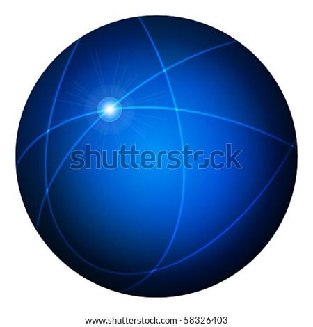 Vector elegant blank blue glossy web button - stock vector