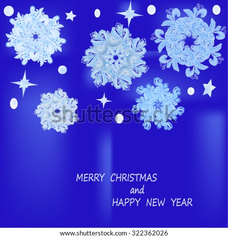 Vector elegant christmas background with beautiful snowflakes . - stock vector