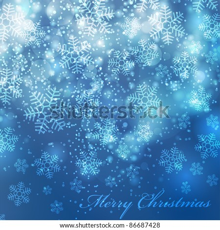 Vector elegant christmas background with beautiful snowflakes (eps10) - stock vector