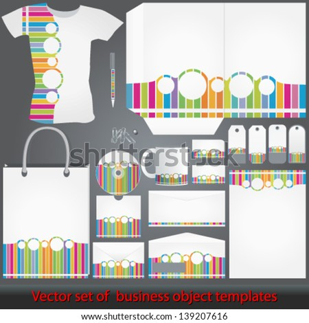 Vector elegant, detailed colorful corporate templates illustrations - stock vector