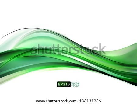 Vector. Elegant fractal wave - stock vector