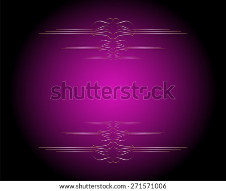 vector elegant gold and pink background or wallpaper with ribbon layout design, for Christmas, copy space for your ad or brochure, dark vignette shading on side border, has vintage grunge texture - stock vector