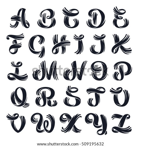 Vector Elegant Hand Drawn Alphabet Script Lettering Typography For Your Logo Posters