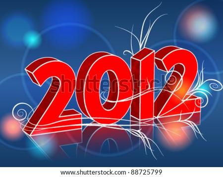 Vector elegant Happy New Year's illustration - stock vector
