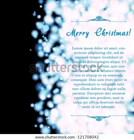 Vector elegant Holiday invitation card. - stock vector