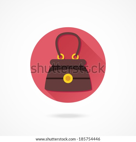 Vector Elegant Women Bag Icon - stock vector