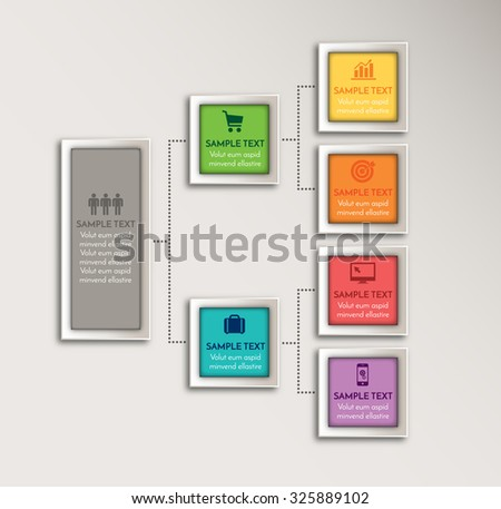 Vector element for business and marketing design. Modern info graphic number options template. Can be used for work flow layout diagram, business step options - stock vector