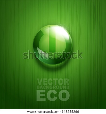 vector element for environmental design in the form of a button - stock vector