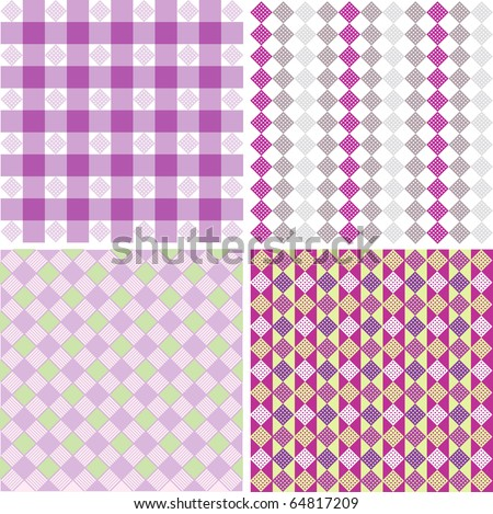 Vector element of geometric shapes, diamond, square, line, patterns