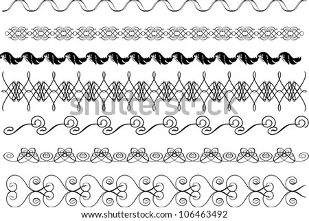 Vector elements calligraphic frame