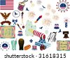 Vector elements for 4Th July - stock vector