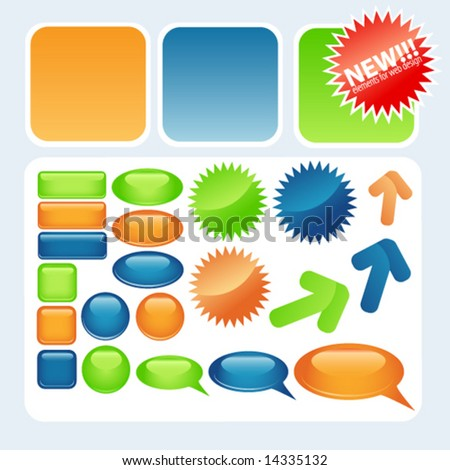 Vector elements for web design - stock vector