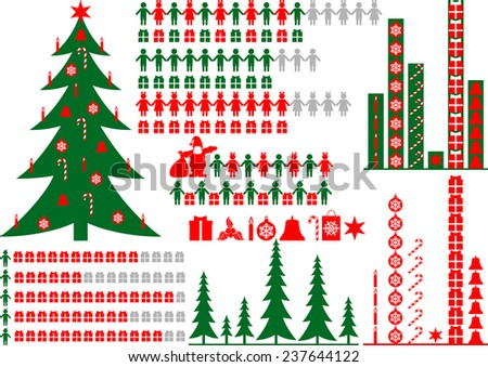Vector elements of Christmas infographic.