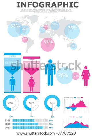 Vector elements set of infographics. eps 10 - stock vector