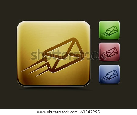 vector email icon set, includes four color versions for your web colour design used. - stock vector