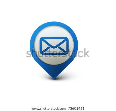 vector email icon web design element. - stock vector