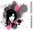 vector  emo girl in stains, see also images ID:  20291062, 20291065 - stock vector