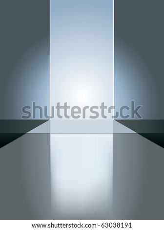 vector empty fashion runway to place your model, raster version available - stock vector