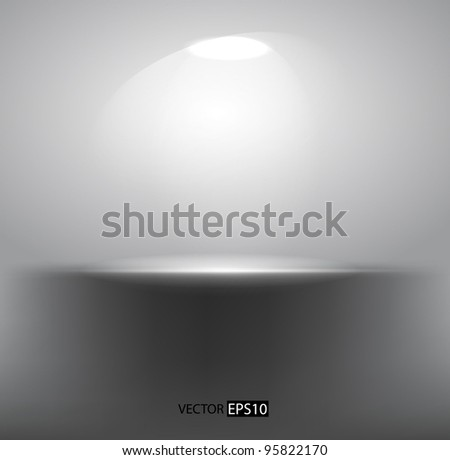 Vector  empty shelf - stock vector