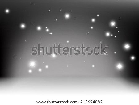Vector empty space sparkle background - Abstract room sparkles background illustration - stock vector